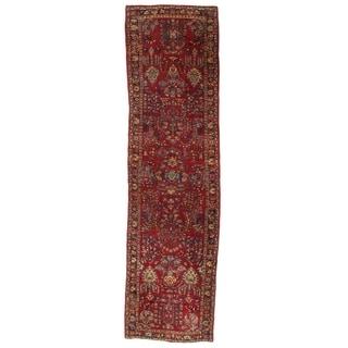 Early 20th Century Antique Persian Sarouk Rug - 2′8″ × 6′11″