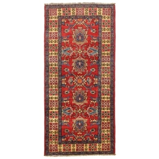 Pasargad DC Pak Kazak Lamb's Wool Rug - 2′2″ × 4′7″