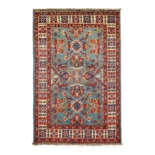 Pasargad DC Pak Kazak Lamb's Wool Rug - 2′8″ × 4′2″