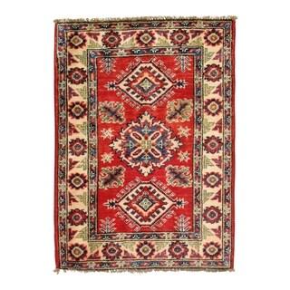 Pasargad DC Pak Kazak Lamb's Wool Rug - 2′ × 3′