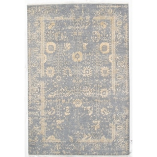 "Pasargad DC Modern Wool and Silk Rug - 6'1""x9'2"""