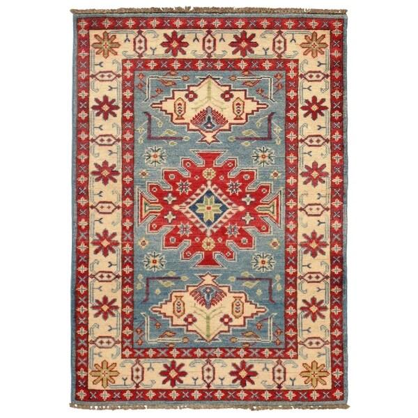Pasargad DC Pak Kazak Lamb's Wool Rug - 3′9″ × 4′