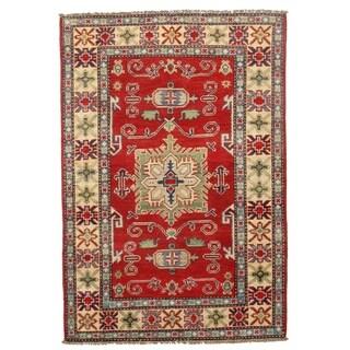 Pasargad DC Pak Kazak Lamb's Wool Rug - 3′4″ × 5′