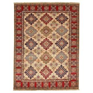 Pasargad DC Genuine Super Kazak Lamb's Wool Rug - 5′2″ × 6′10″
