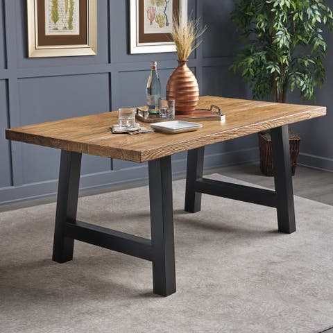 Christopher Knight Home Ozias Concrete Rectangle Picnic Dining Table