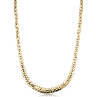 14k Yellow Gold Graduated Cuban Link Necklace 17 5 Inches