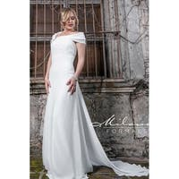 Off-the-Shoulder Wedding Dress from Milano Formals #AA222 (As Is Item)