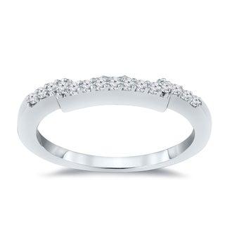 14k Gold 1 2ct TDW Diamond Contoured Wedding Band By Auriya