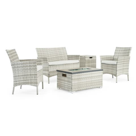 Kanab 4pc Fire Seating Set in Grey by Sego Lily