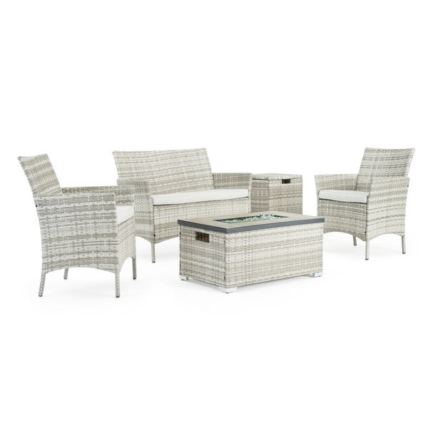 Kanab 4pc Fire Seating Set in Grey by Sego Lily. Opens flyout.