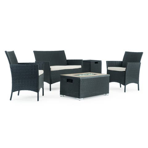 Kanab 4pc Fire Seating Set in Black by Sego Lily