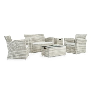 Magna 4pc Fire Seating Set in Grey by Sego Lily