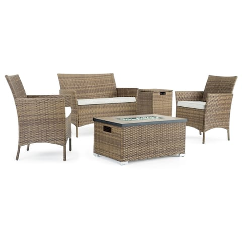Kanab 4pc Fire Seating Set in Brown by Sego Lily