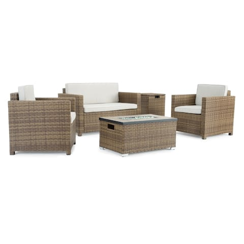 Boulder 4pc Fire Seating Set in Brown by Sego Lily