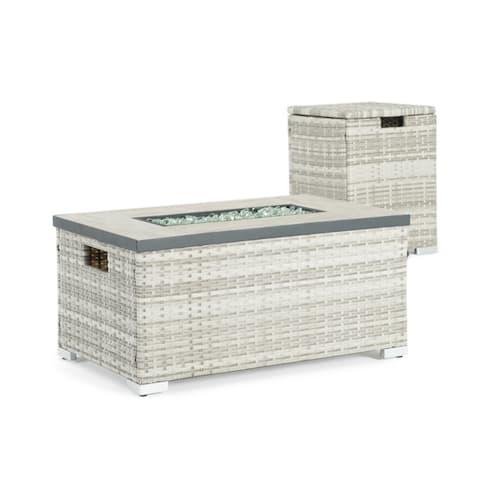 Cheyenne 32 x 20-inch Grey Fire Table by Sego Lily