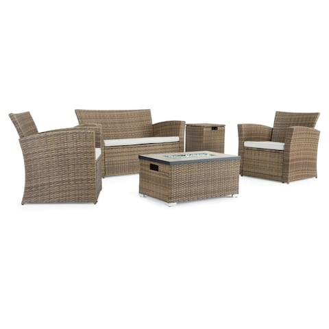 Magna 4pc Fire Seating Set in Brown by Sego Lily