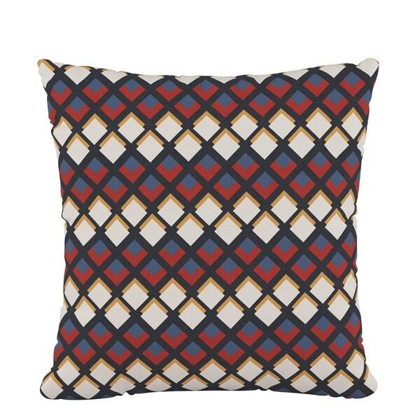 Skyline Fluffed Polyester 18 x 18 Pillow in Deco Diamond Rust Gold