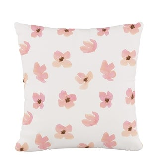 Skyline Fluffed Polyester 18 x 18 Pillow in Floating Petals Pink