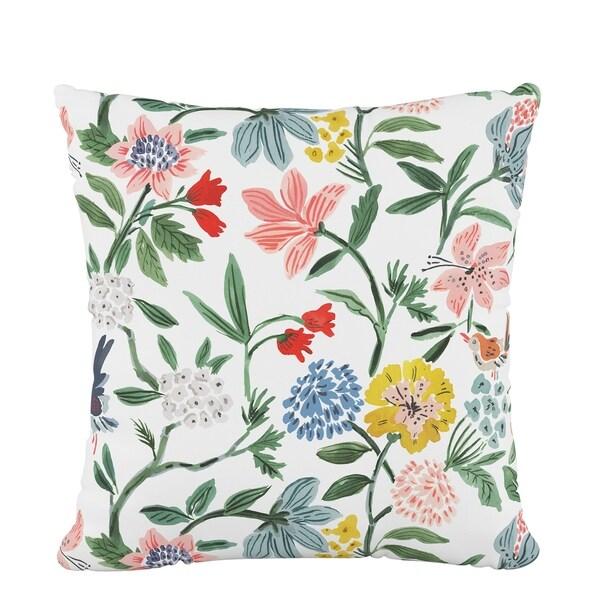 Skyline Fluffed Polyester 18 x 18 Pillow in Cari Garden Rose