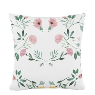 Skyline Fluffed Polyester 18 x 18 Pillow in Kaleidoscope Floral Blush