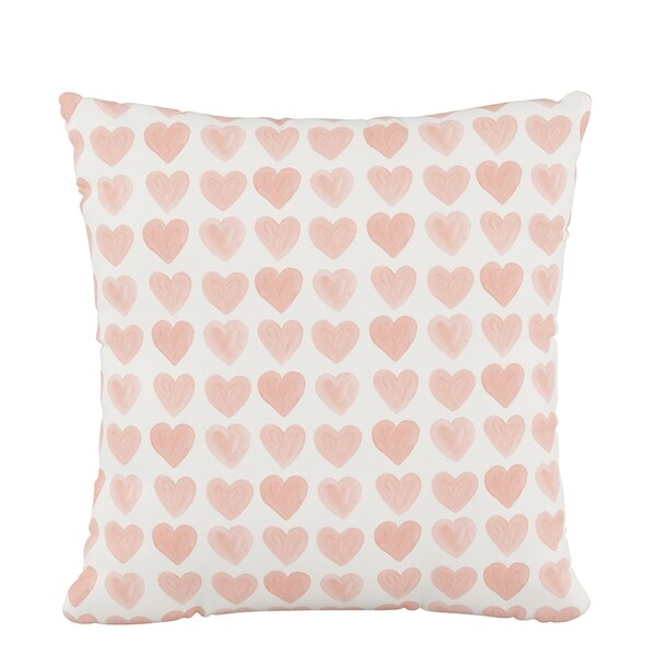 Skyline Fluffed Polyester 18 x 18 Pillow in Hearts Peach