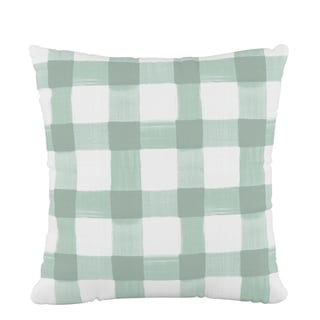 Skyline Fluffed Polyester 18 x 18 Pillow in Buffalo Square Mint