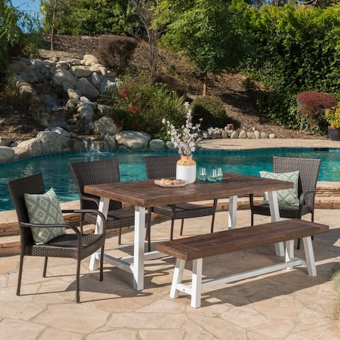Buy White Wicker Outdoor Dining Sets Online At Overstock Our Best