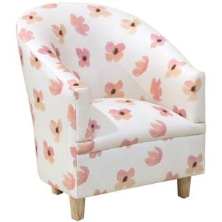 Skyline Furniture Kid's Tub Chair in Floating Petals Pink