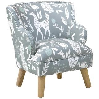 Skyline Furniture Kids Modern Chair in Hatfield Fauna Grey Ground Mint
