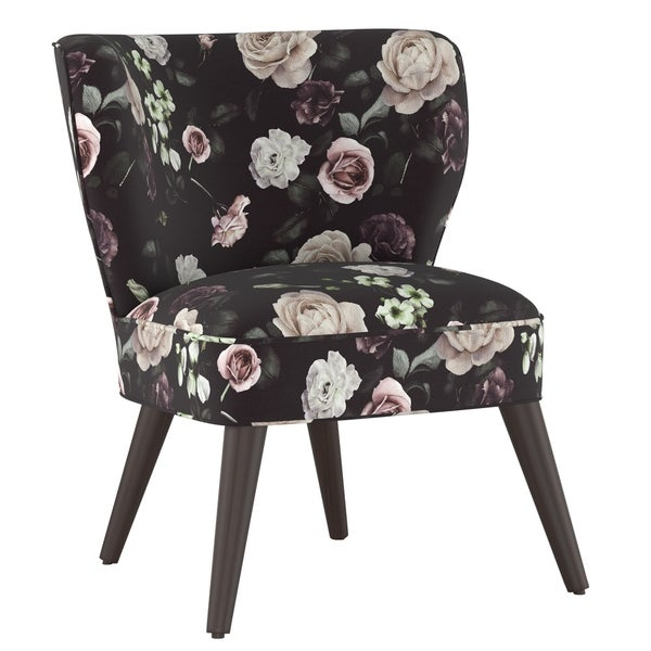 Shop Skyline Furniture Curved Armless Chair In Soft Floral