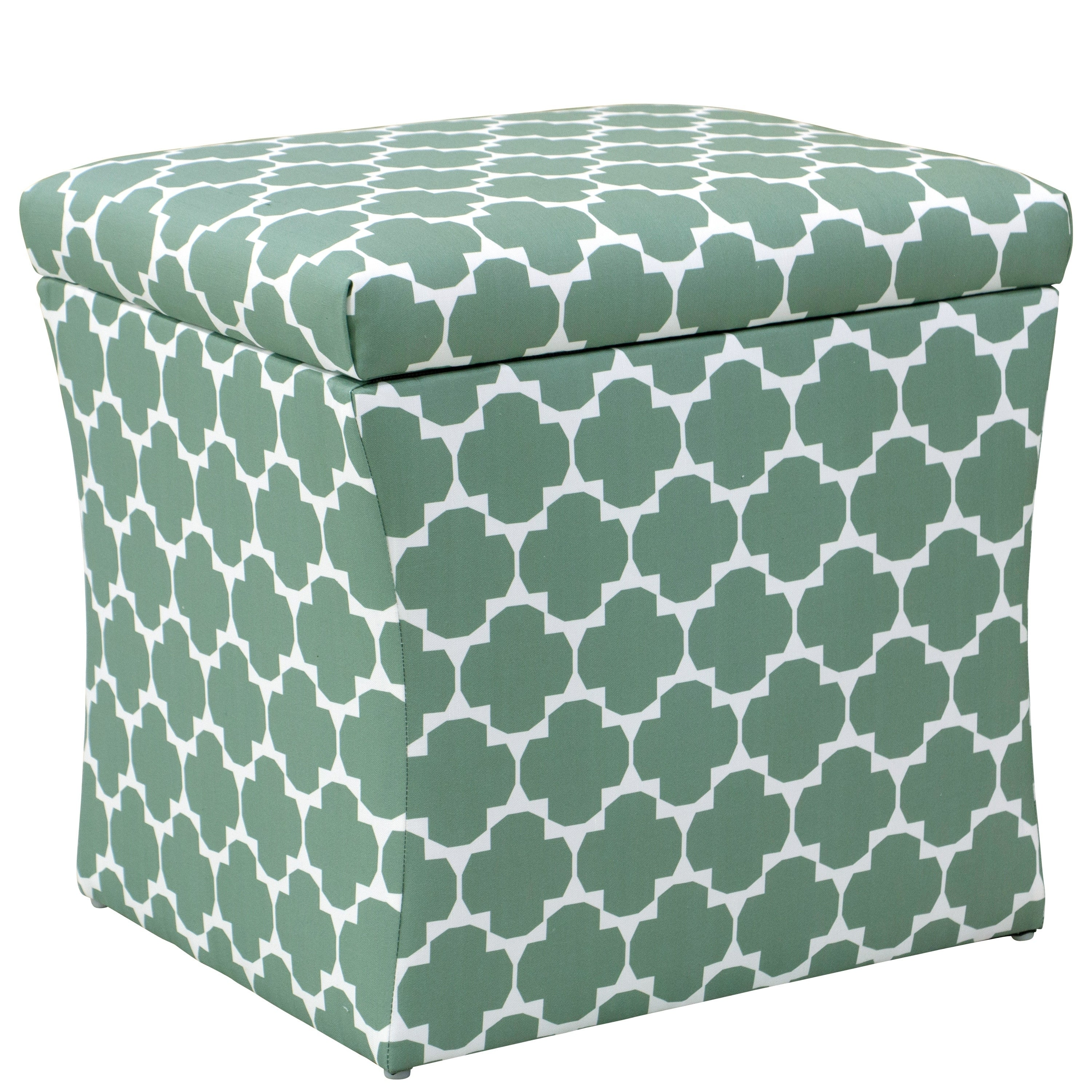 Sensational Skyline Furniture Storage Ottoman In Facet Green Ocoug Best Dining Table And Chair Ideas Images Ocougorg