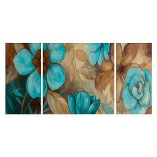 Wexford Home 'Garden Blues I' Premium Canvas Wall Art (Set of 3)
