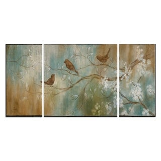 'One Spring Day' 3-piece Canvas Wall Art