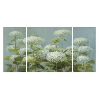 Wexford Home 'White Hydrangea Garden' A Premium Multi Piece Art