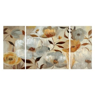 'Golden Flower' Canvas Premium Multi-piece Art