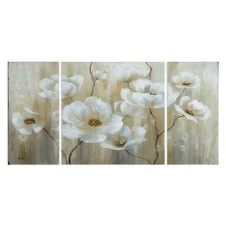 'Shimmering Blossoms' Canvas Premium Multi-piece Art