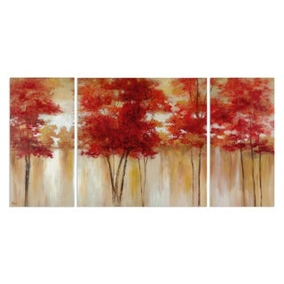 Wexford Home 'Red Trees' Canvas Wall Art (Set of 3)