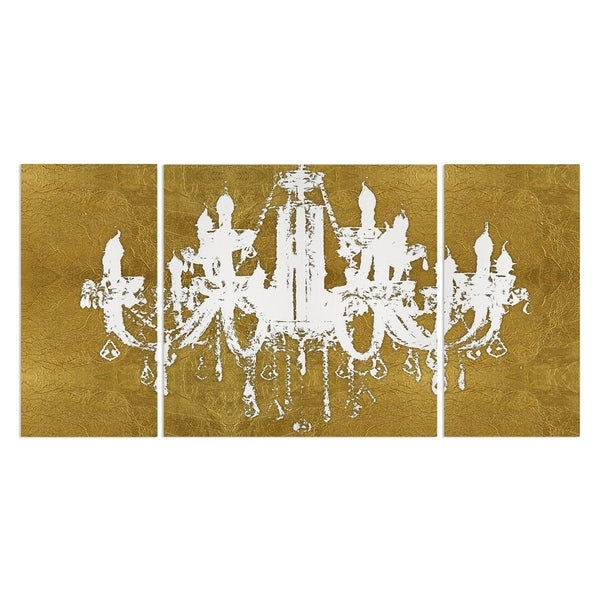 Wexford Home 'Golden Champagne Diamond Chandelier' Canvas Premium Multi Piece Art