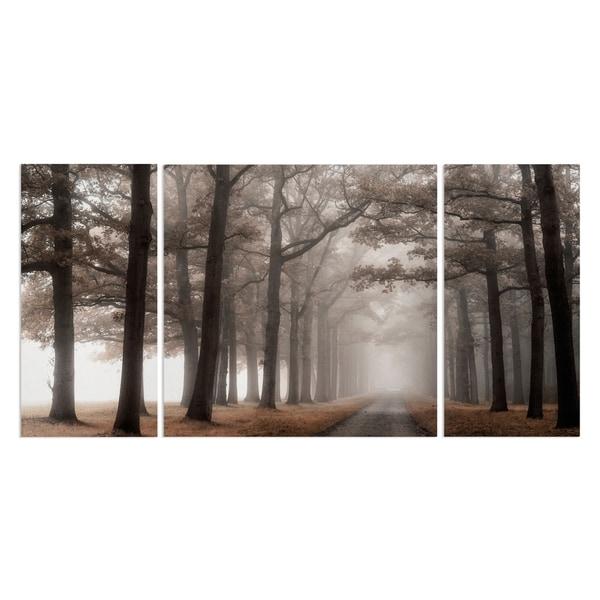 Wexford Home 'Misty Road' Canvas Premium Multi Piece Art