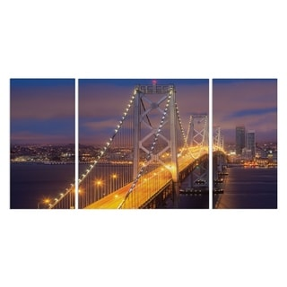 Wexford Home 'Nighttime on Bay Bridge' A Premium Multi Piece Art