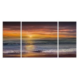 'Sundown Descanso Beach' Canvas Premium Multi-piece Art