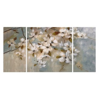 Wexford Home 'Blossoms of May' 3-piece Wall Art