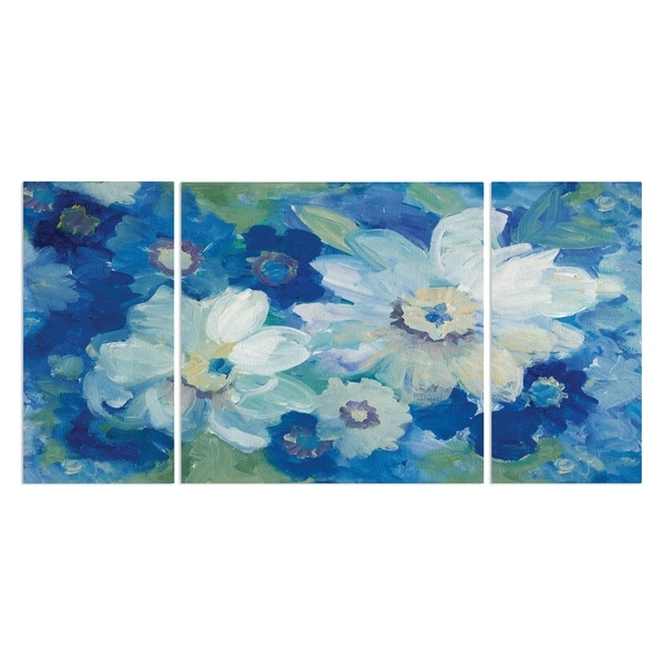 Wexford Home 'Blue Nocturne I' Premium Canvas Wall Art (Set of 3)