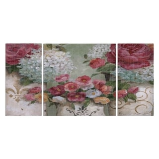 Wexford Home 'Contained Blooms' Premium Canvas Wall Art (Set of 3)