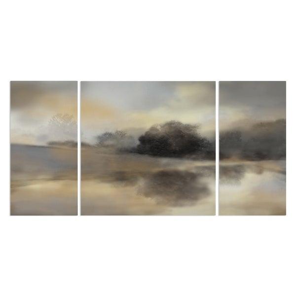 Wexford Home 'Misty Pond' Premium Canvas Multi-piece Giclee Wall Art