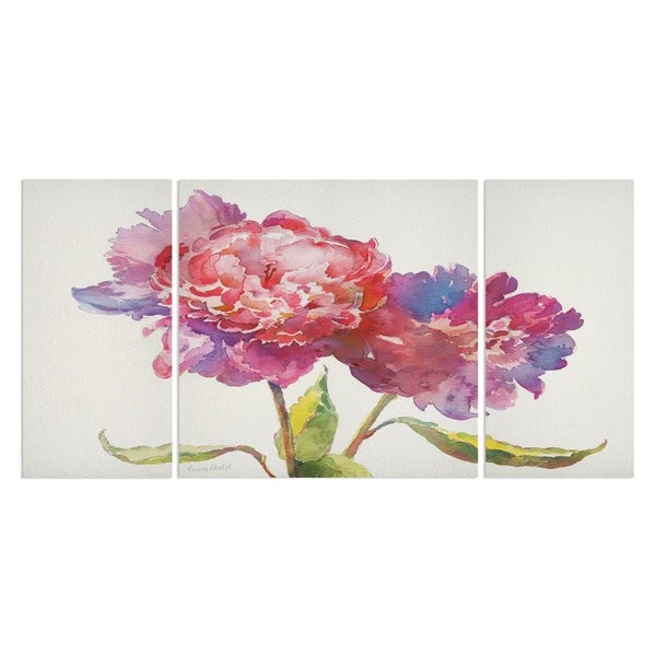 Wexford Home 'Prize Peonies I' 3-piece Wall Art