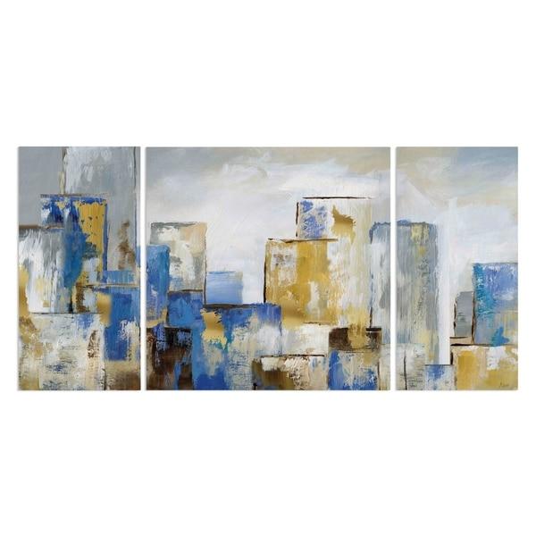 'City Blues I' Canvas Wall Art