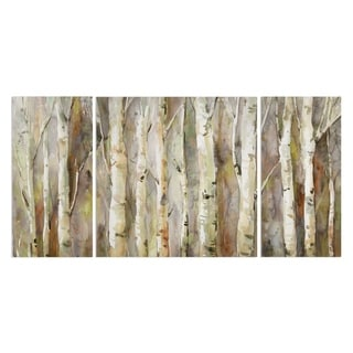Wexford Home 'Birch Path' Canvas Wall Art (Set of 3)