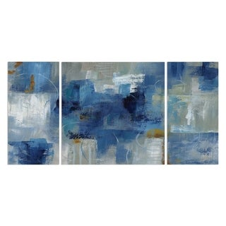 Wexford Home 'Blue Morning' Premium Canvas Multi-piece Hand-wrapped Giclee Wall Art