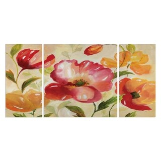 Wexford Home 'Jardin Rouge' Canvas Premium Multi Piece Art